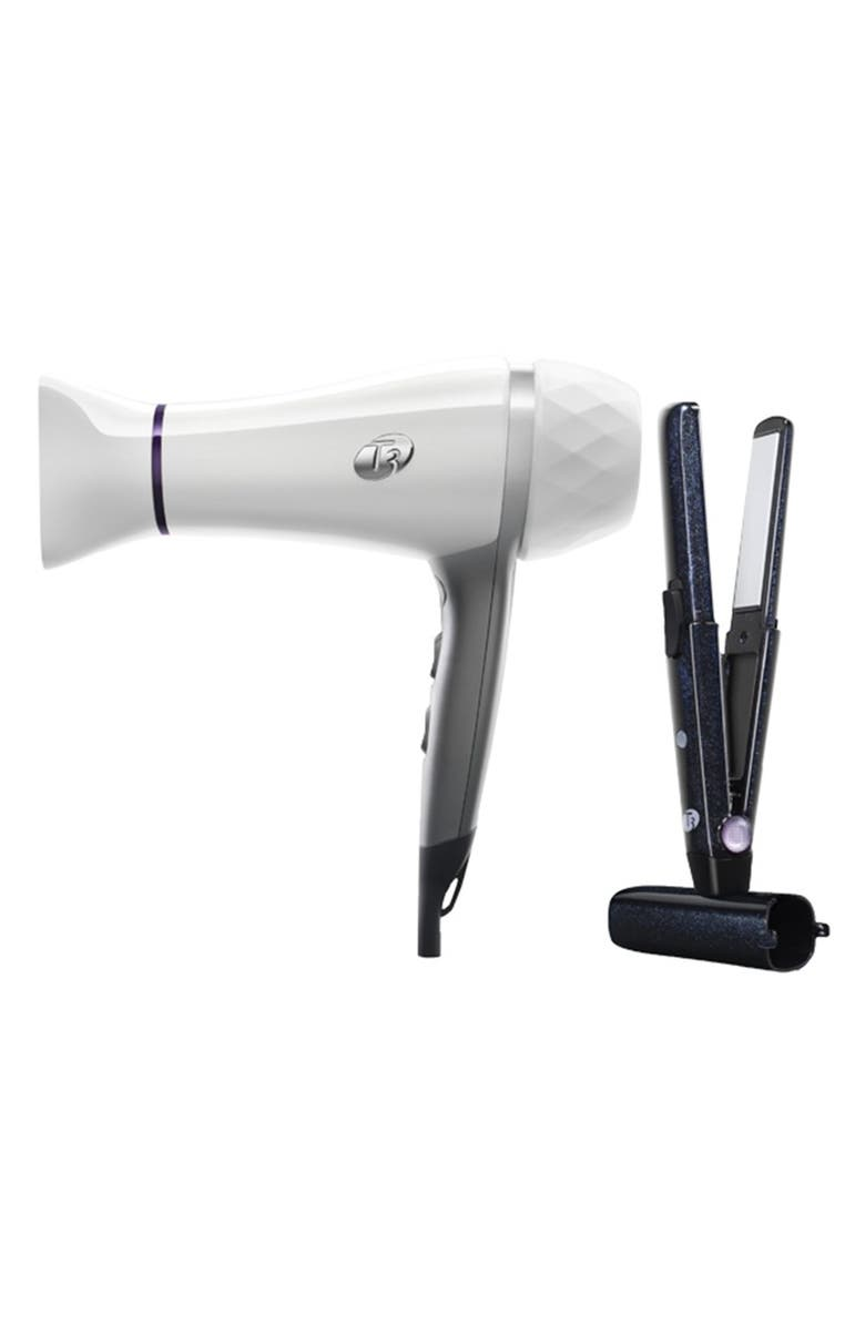T3 'Featherweight 2' Dryer with Bonus SinglePass<sup>™</sup> Compact Iron, Main, color, NO COLOR