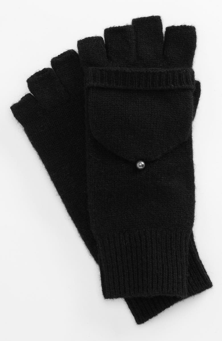 LAUNDRY BY SHELLI SEGAL Convertible Knit Mittens, Main, color, 001