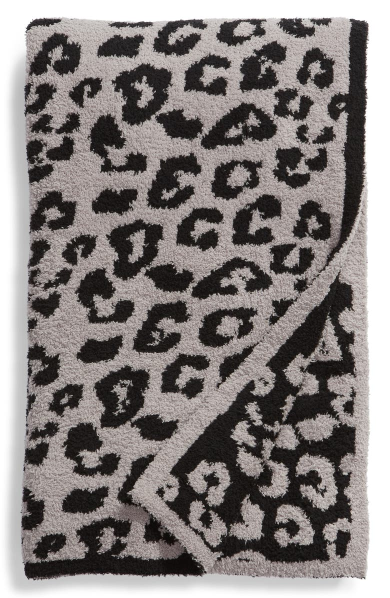 BAREFOOT DREAMS<SUP>®</SUP> In the Wild Throw Blanket, Main, color, DOVE GREY/ BLACK