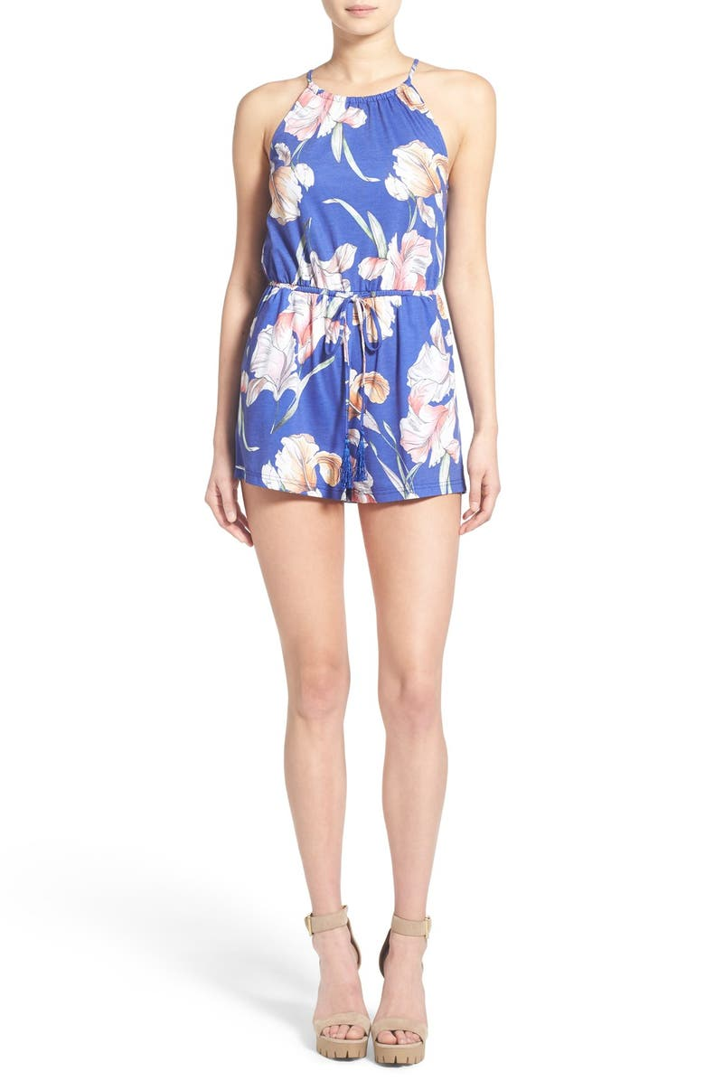 MINKPINK 'By the River' Floral Print Romper, Main, color, 400