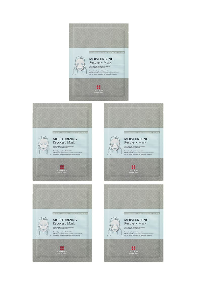 LEADERS COSMETICS Moisturizing Recovery Mask - Pack of 5, Main, color, no color