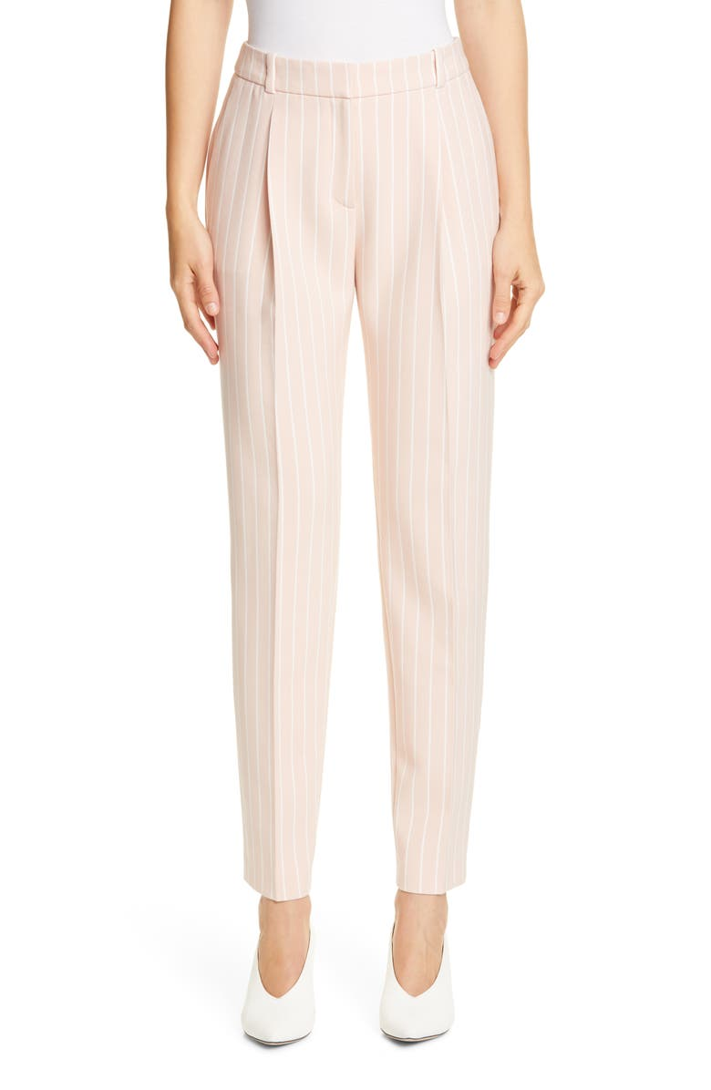 HUGO Harita Pinstripe Ankle Trousers, Main, color, 650
