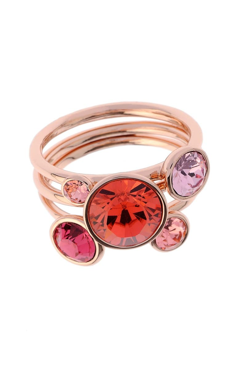 TED BAKER LONDON 'Jackie' Crystal Stacking Rings, Main, color, 950