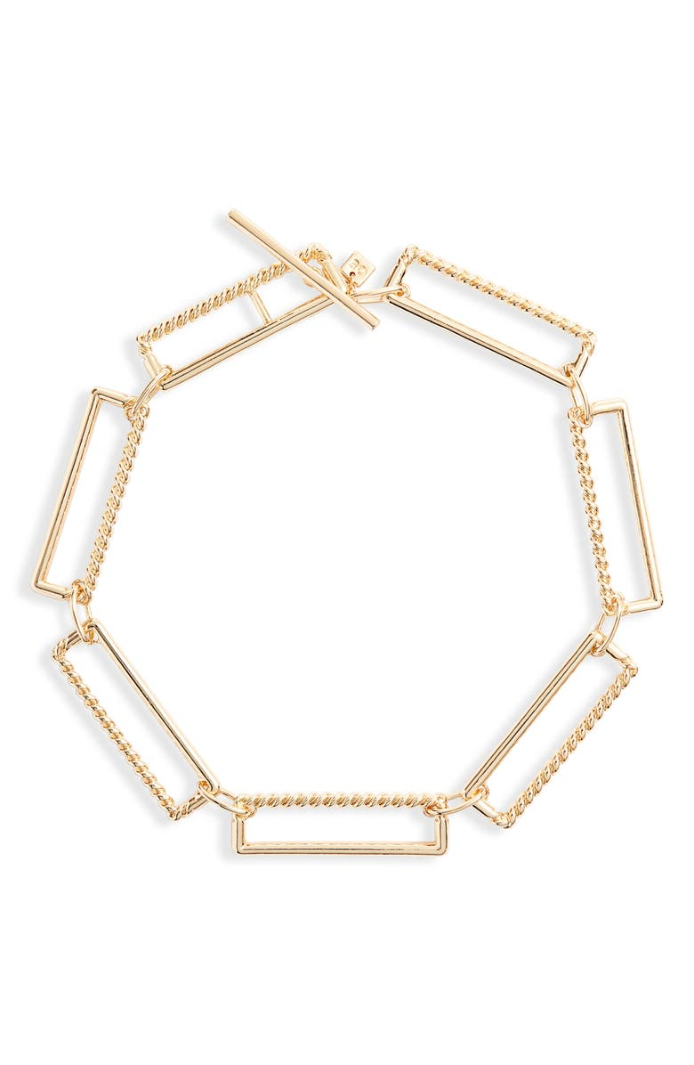 OPEN EDIT Jumbo Link Collar Necklace, Main, color, GOLD