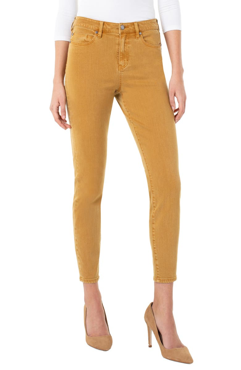 LIVERPOOL Abby High Waist Ankle Skinny Jeans, Main, color, HONEY