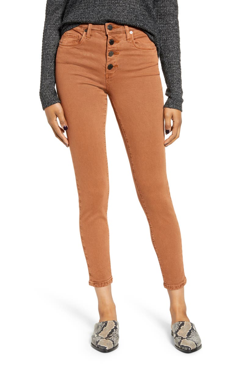 BLANKNYC Button Fly Jeggings, Main, color, 200