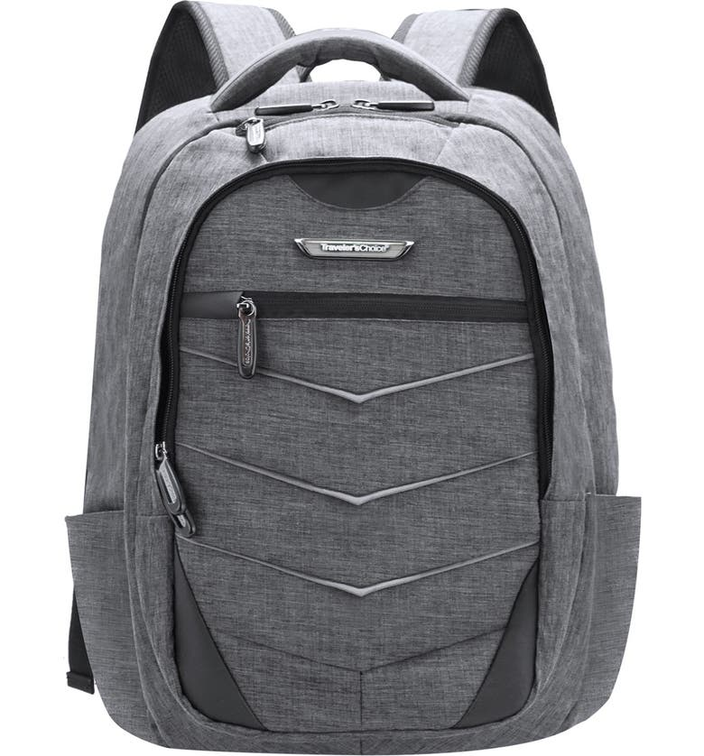 TRAVELERS CHOICE Silverwood Computer Backpack, Main, color, GRAY