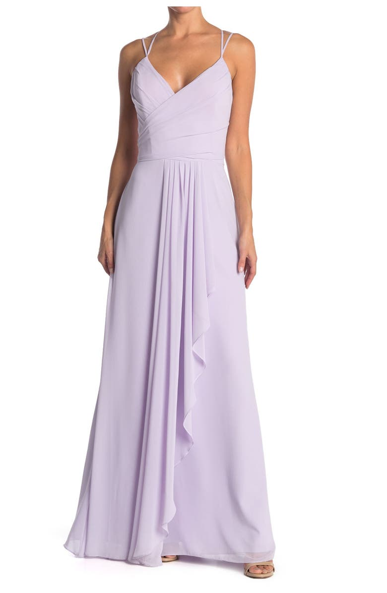 HAYLEY PAIGE OCCASIONS Sleeveless Chiffon Gown, Main, color, 683
