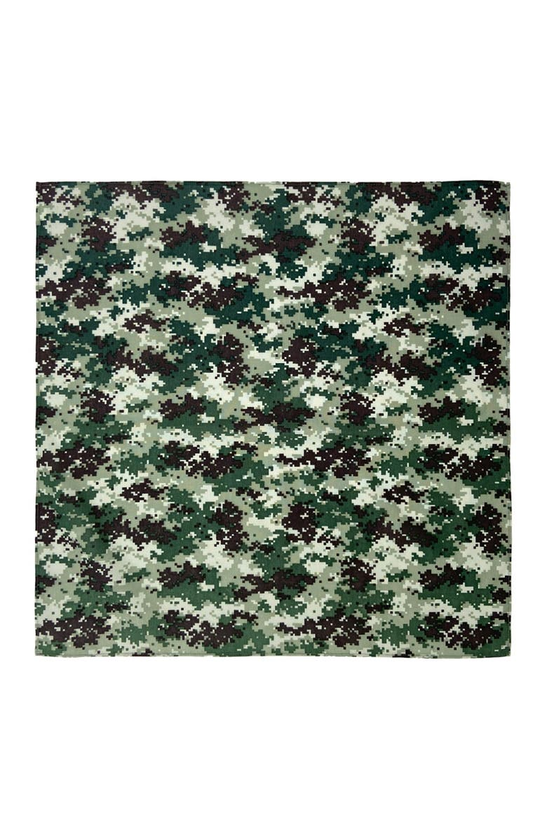 CONSTRUCT Camo Printed Unisex Adult Bandana - Pack of 3, Main, color, MULTI