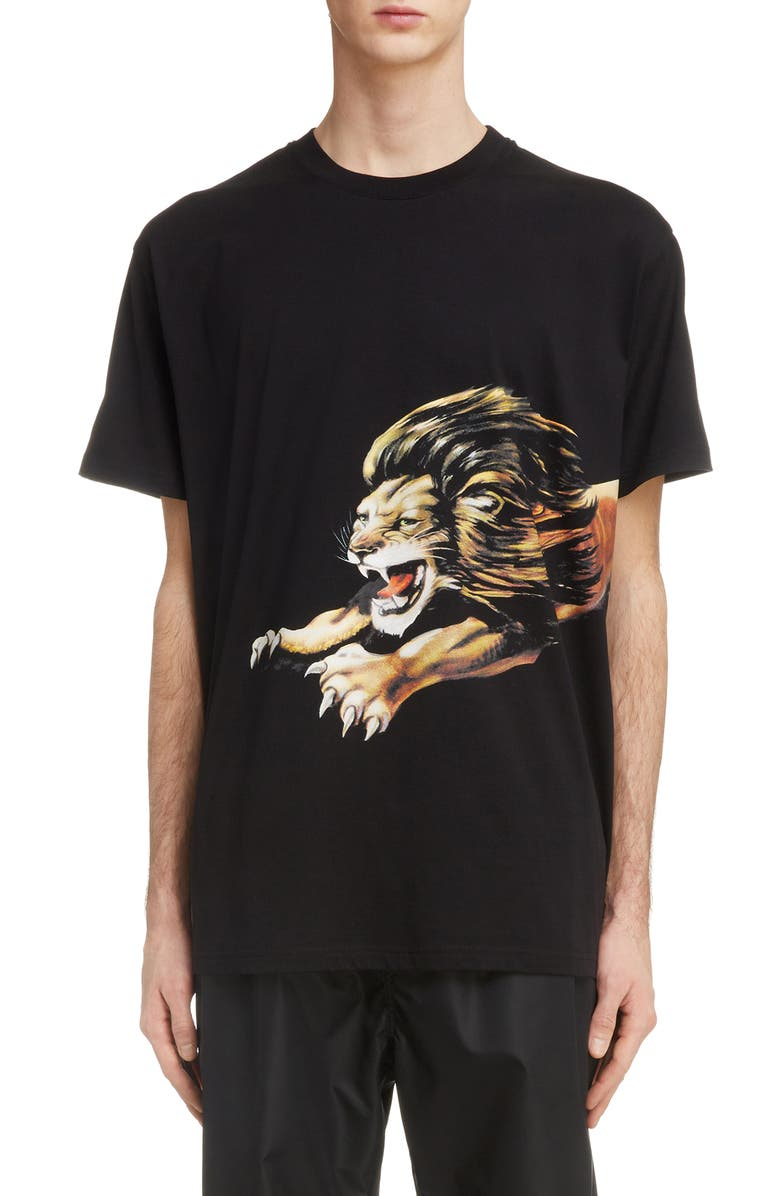 GIVENCHY Lion Graphic T-Shirt, Main, color, 001