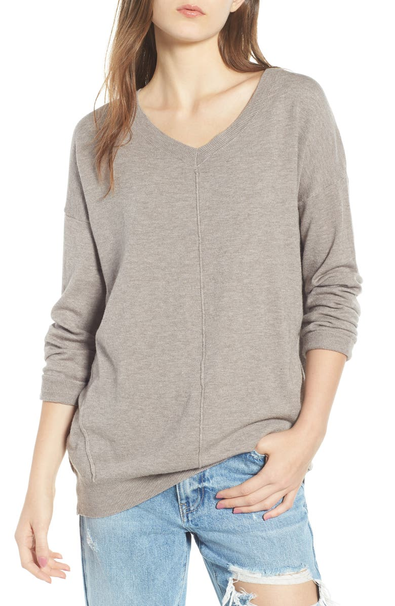 DREAMERS BY DEBUT Exposed Seam Sweater, Main, color, 200