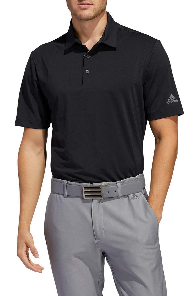 ADIDAS GOLF Ultimate365 Solid Performance Polo, Main, color, BLACK/ GREY