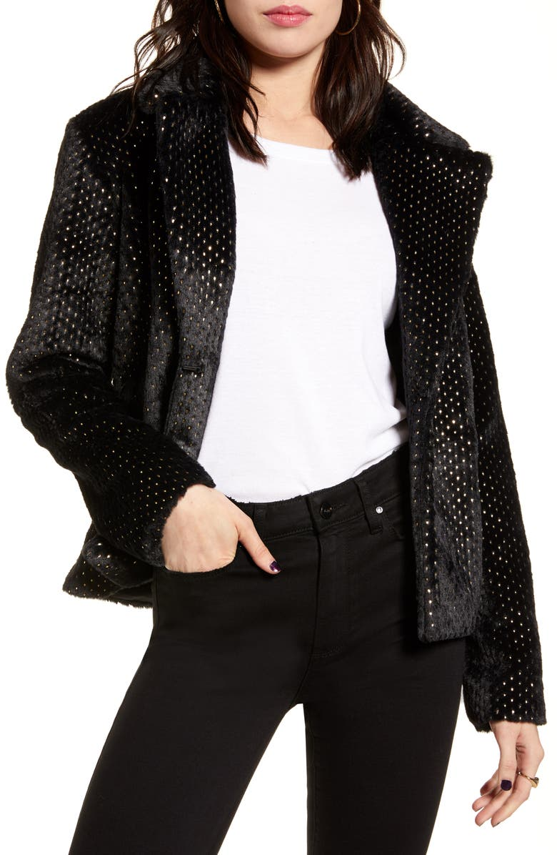 MINKPINK Feel This Way Forever Jacket, Main, color, 001