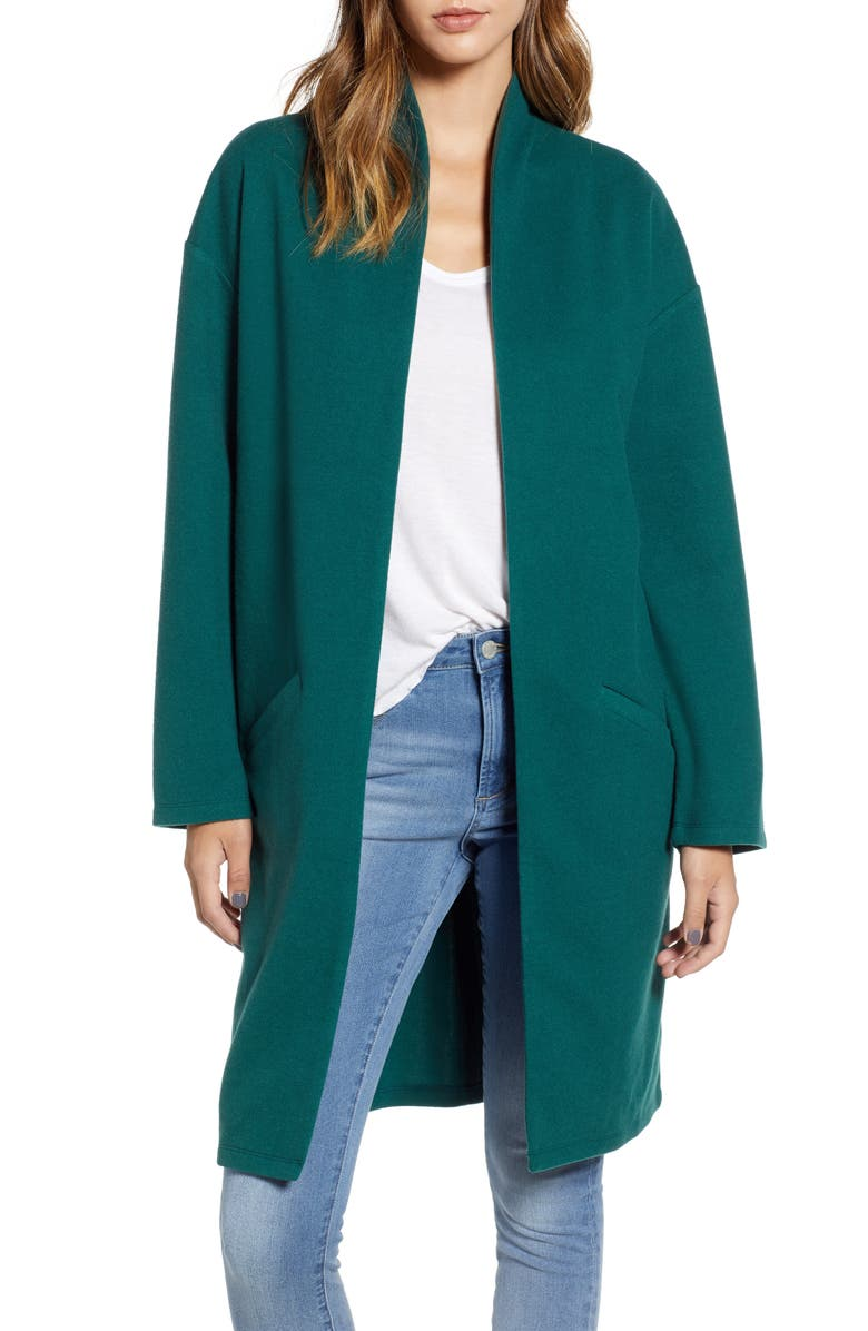 LEITH Open Front Midi Coat, Main, color, 301