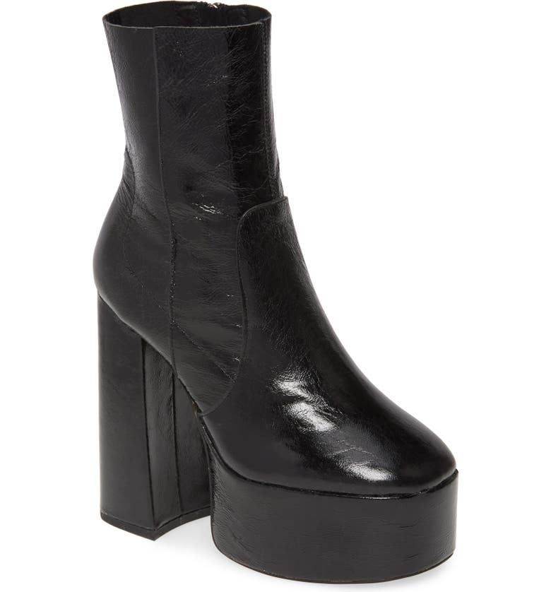 TOPSHOP Electric Genuine Calf Hair Platform Boots, Main, color, 001