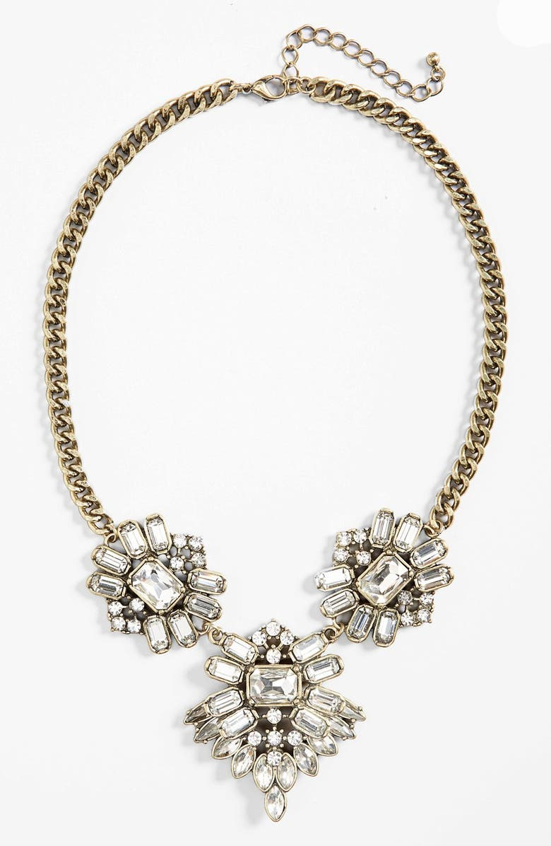 BP. Crystal Cluster Statement Necklace, Main, color, 100