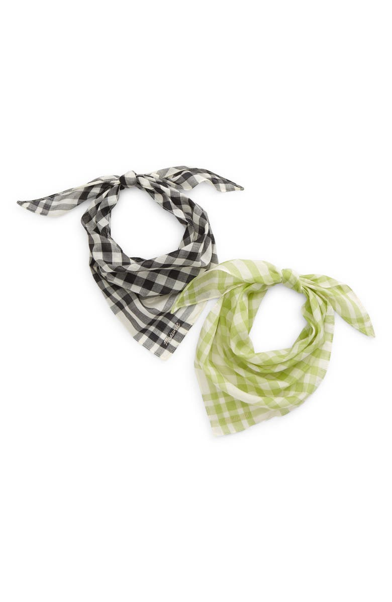 MADEWELL Assorted 2-Pack Triangle Bandanas, Main, color, CHARTREUSE