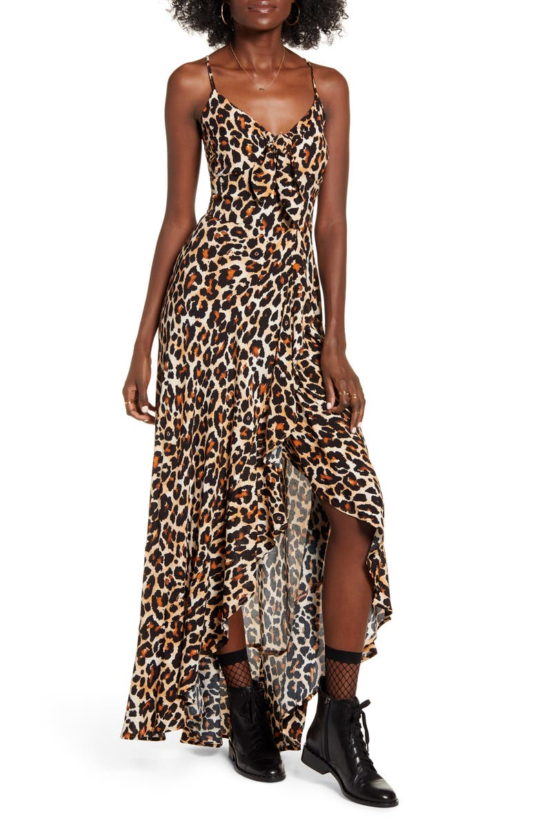 BAND OF GYPSIES Born To Be Wild High/Low Dress, Main, color, 200