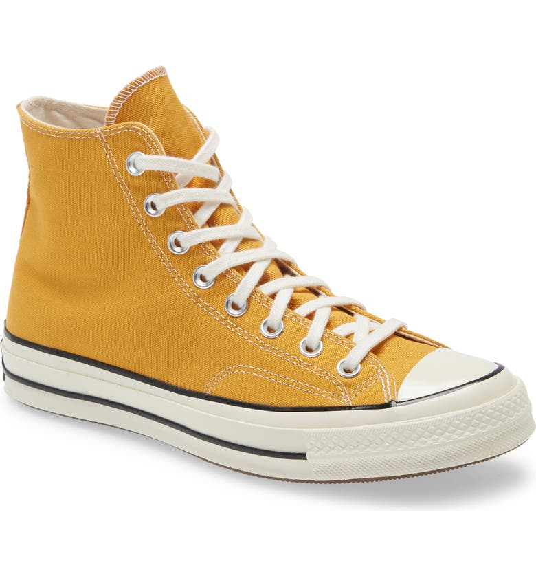 CONVERSE Chuck Taylor<sup>®</sup> All Star<sup>®</sup> 70 High Top Sneaker, Main, color, SUNFLOWER/ BLACK/ EGRET