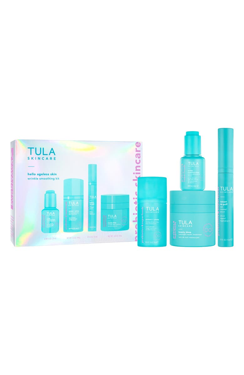 TULA SKINCARE Hello Ageless Skin Full Size Wrinkle Smoothing Set, Main, color, No Color