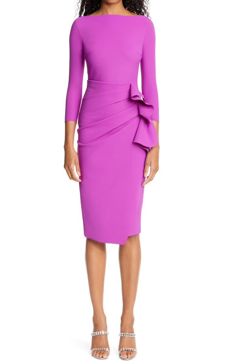 CHIARA BONI LA PETITE ROBE Zelma Cocktail Dress, Main, color, MAGENTA