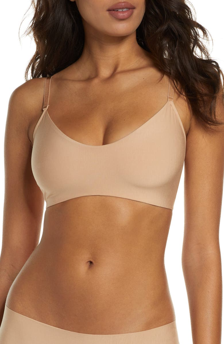 COMMANDO Butter Bralette, Main, color, BEIGE