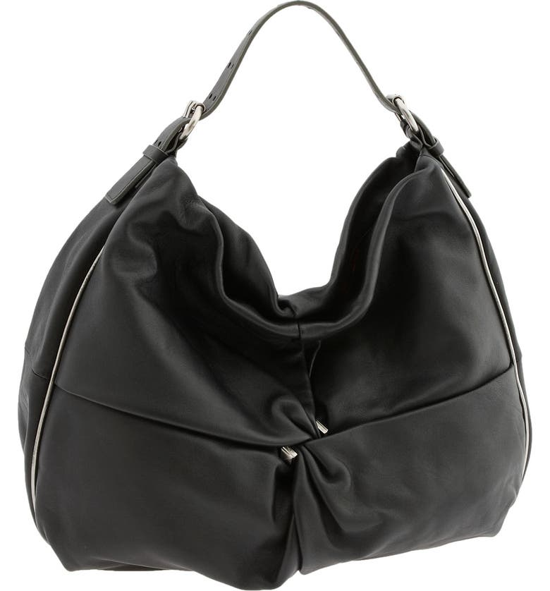 MARC BY MARC JACOBS 'Perfect Leola' Cinched Hobo, Main, color, Black