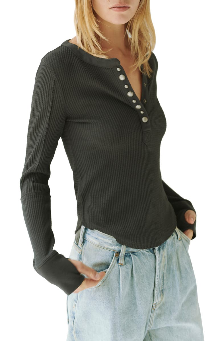FREE PEOPLE Everest Long Sleeve Henley Top, Main, color, 001