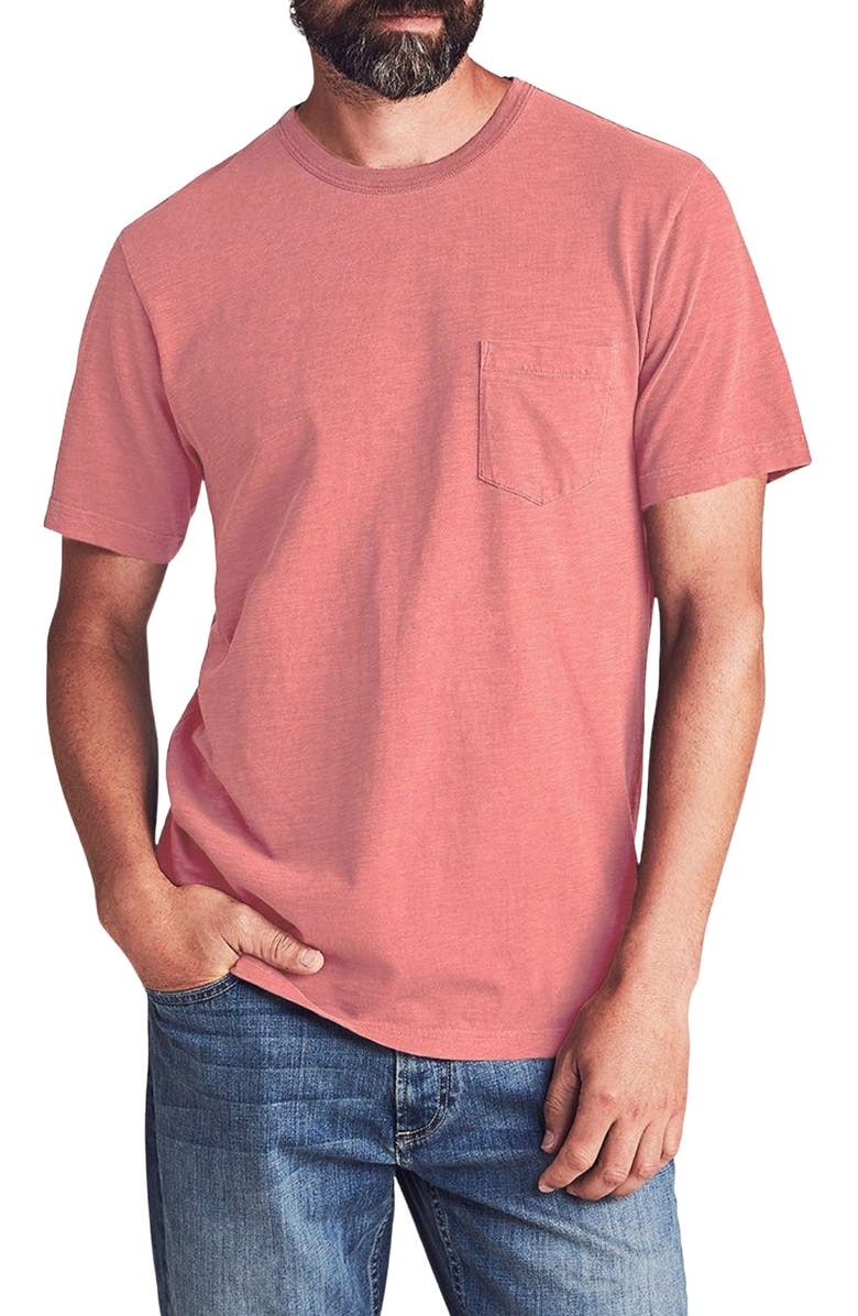 FAHERTY BRAND Sunwashed Pocket T-Shirt, Main, color, HERMOSA RED