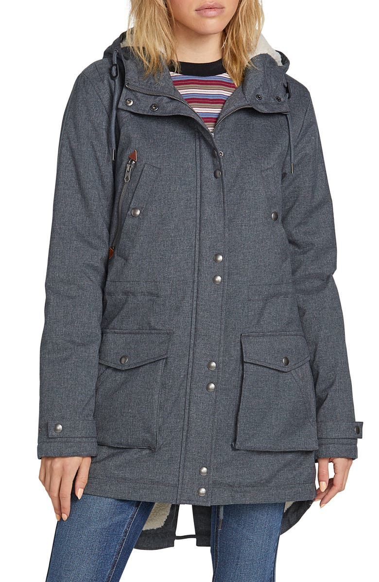 VOLCOM Walk on By 5K Parka, Main, color, 001