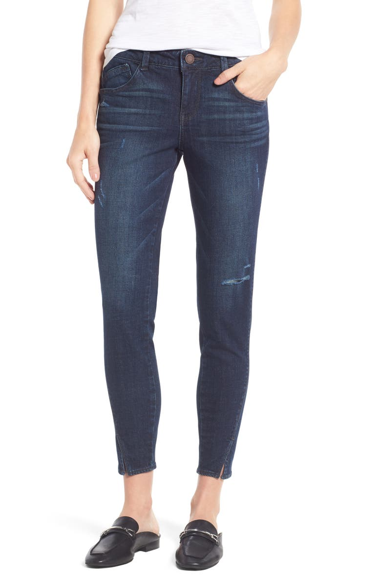 WIT & WISDOM Twisted Seam Ankle Skimmer Jeans, Main, color, INDIGO