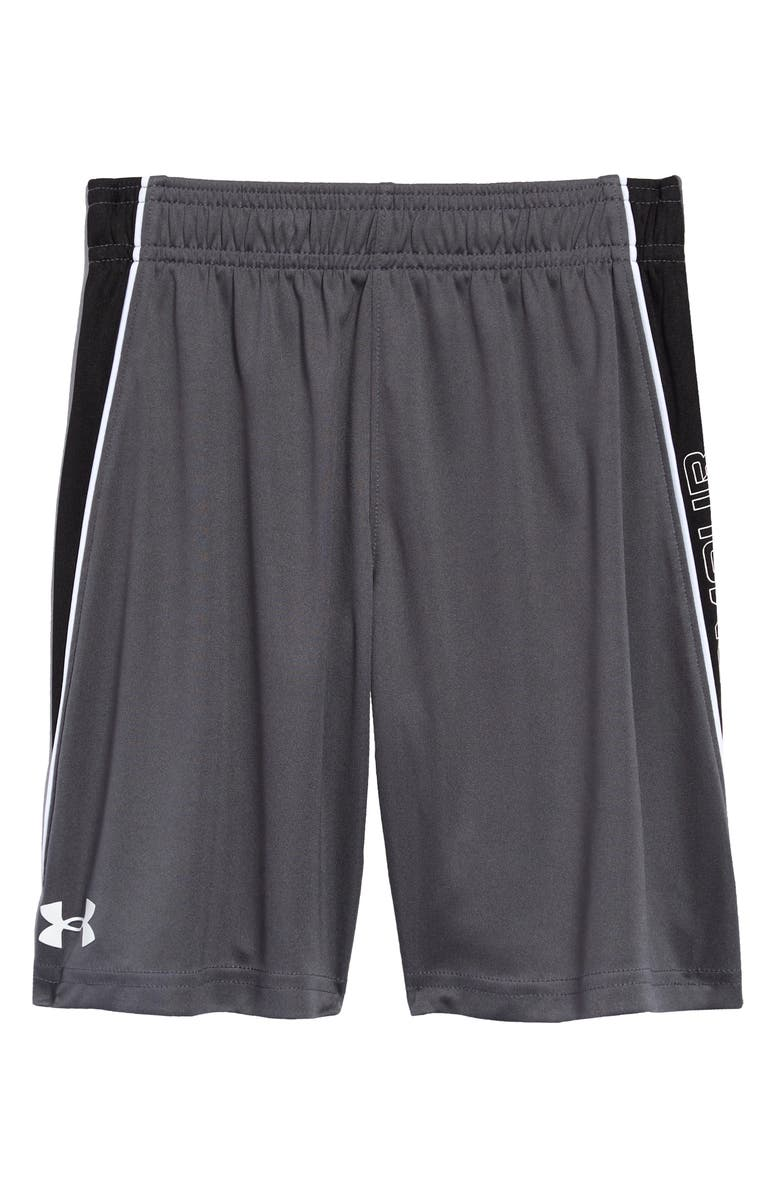 UNDER ARMOUR Kids' Lead Shorts, Main, color, PITCH GRAY