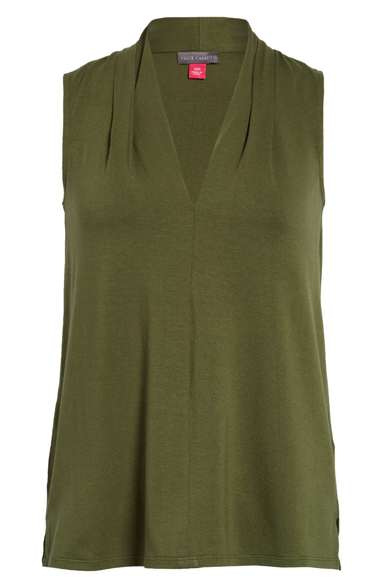 VINCE CAMUTO Sleeveless V-Neck Top, Main, color, PARSLEY