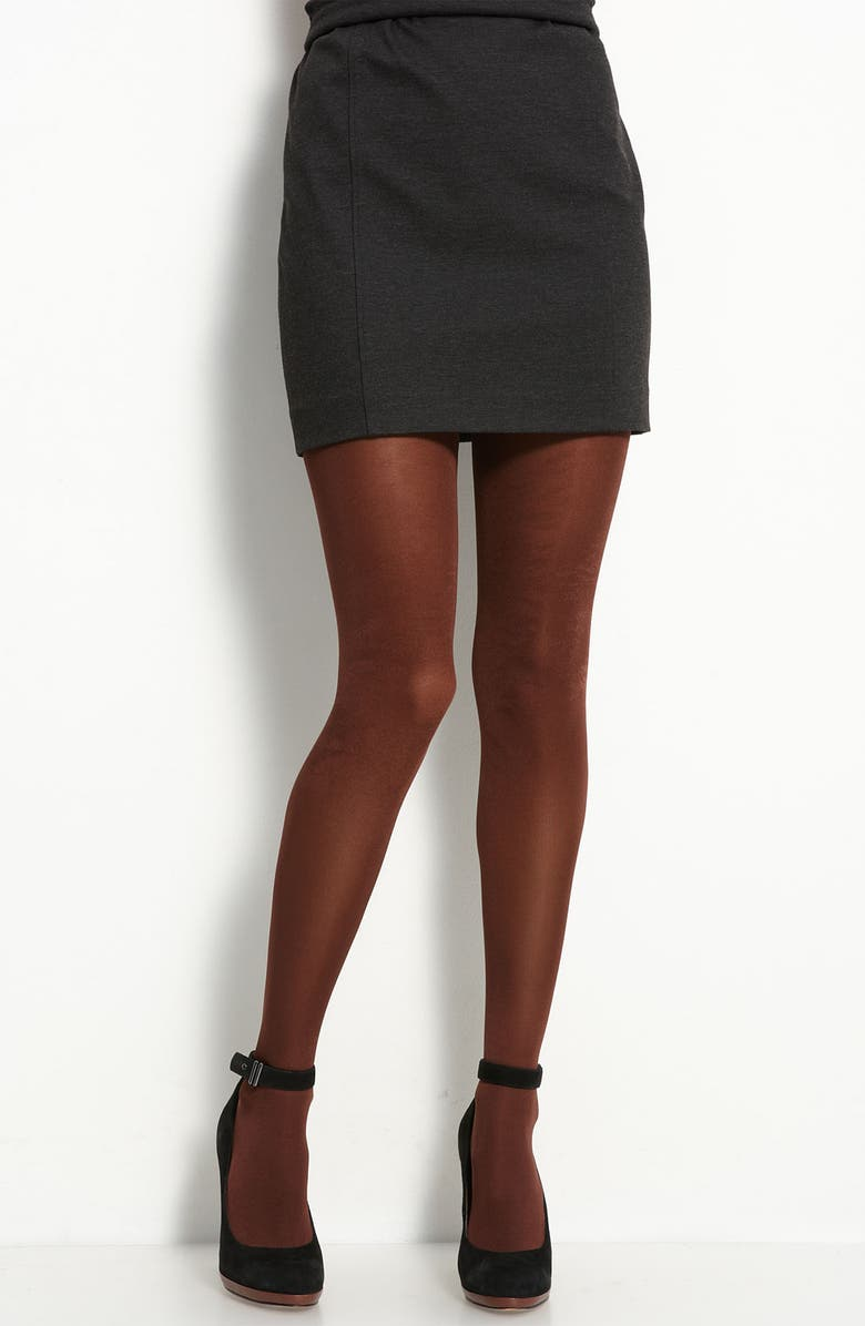 DKNY 'Metal Luxe' Control Top Tights, Main, color, 222