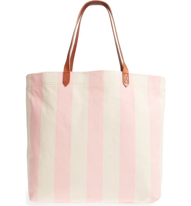 MADEWELL Stripe Canvas Tote, Main, color, 650
