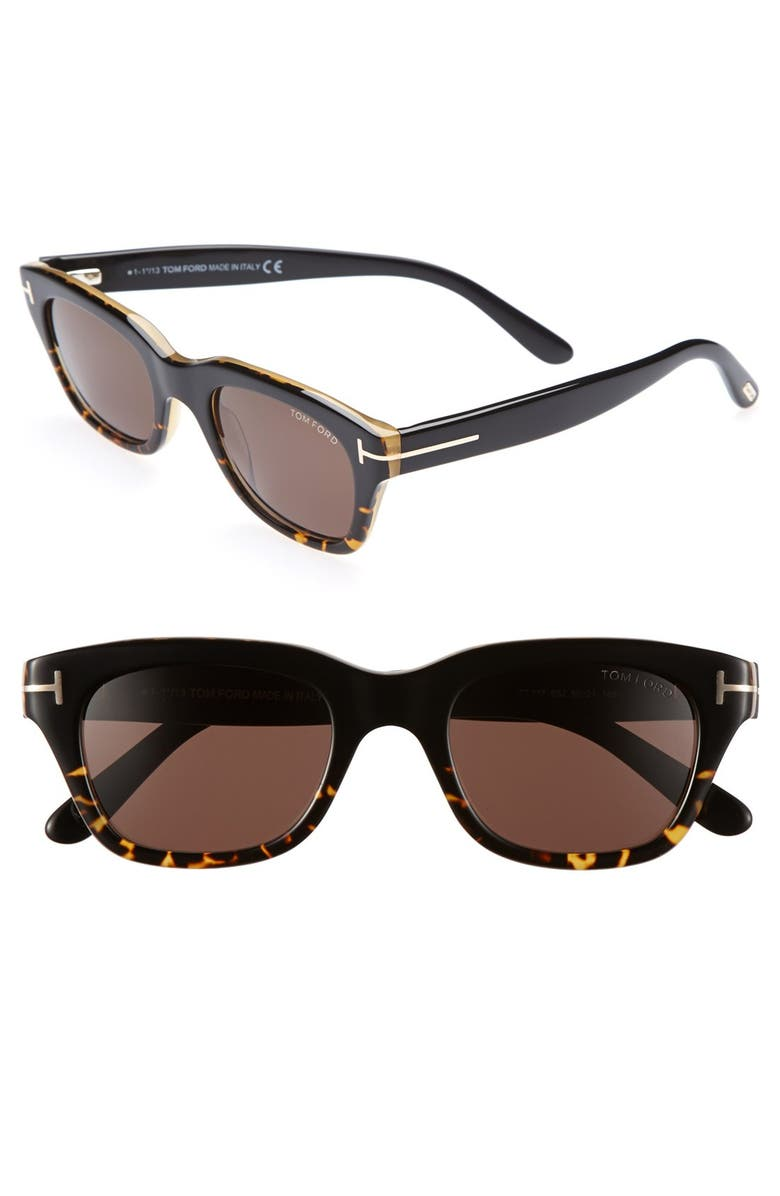 TOM FORD 'Snowdon' 50mm Sunglasses, Main, color, 200