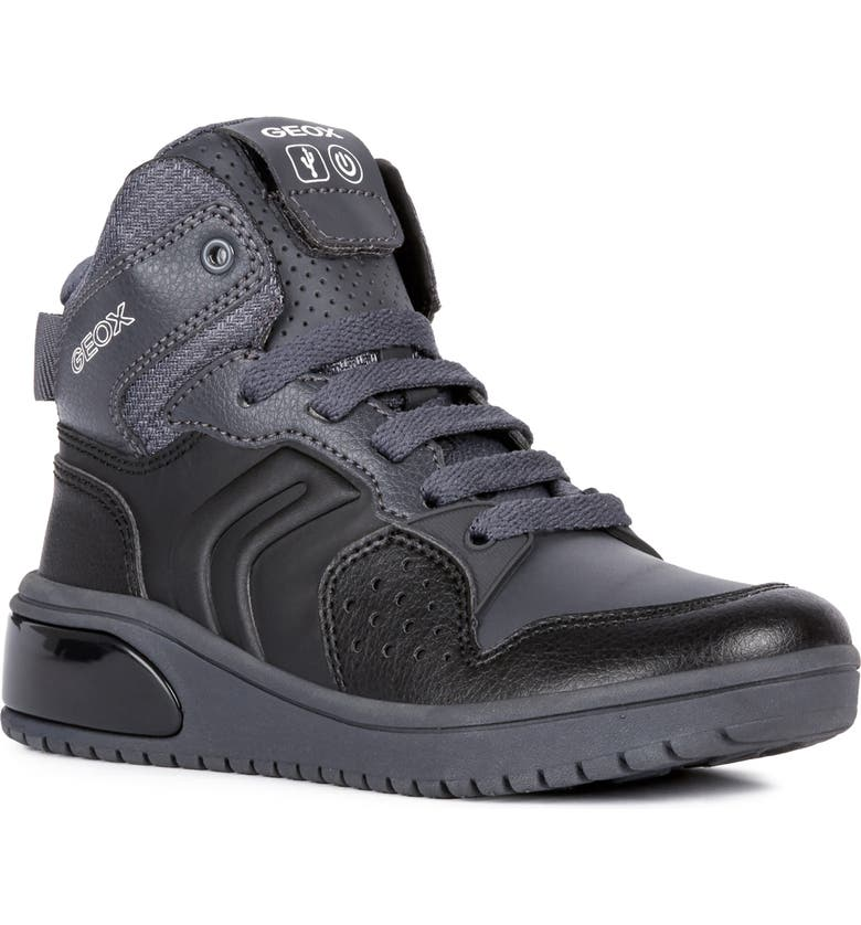 GEOX XLED Water Resistant Bluetooth<sup>®</sup> Light-Up Sneaker, Main, color, 020