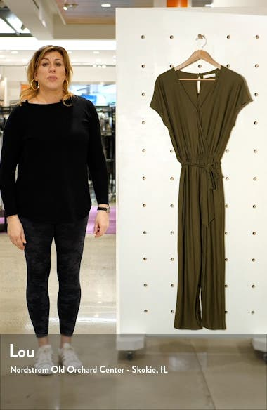 Belted Jersey Jumpsuit, sales video thumbnail
