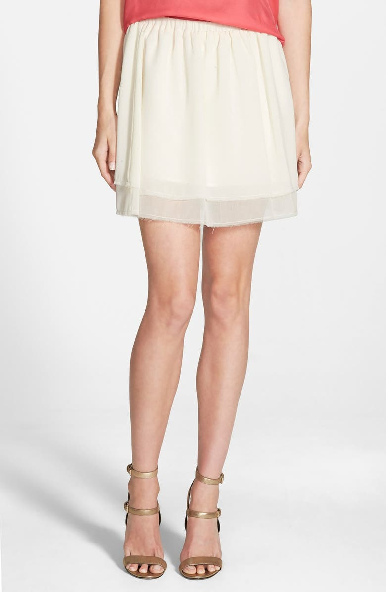 CUPCAKES AND CASHMERE 'Prima' Chiffon Skirt, Main, color, ANTIQUE IVORY