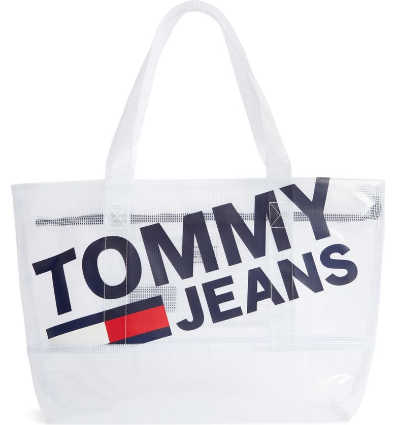 TOMMY JEANS Summer Mesh Tote, Main, color, 100