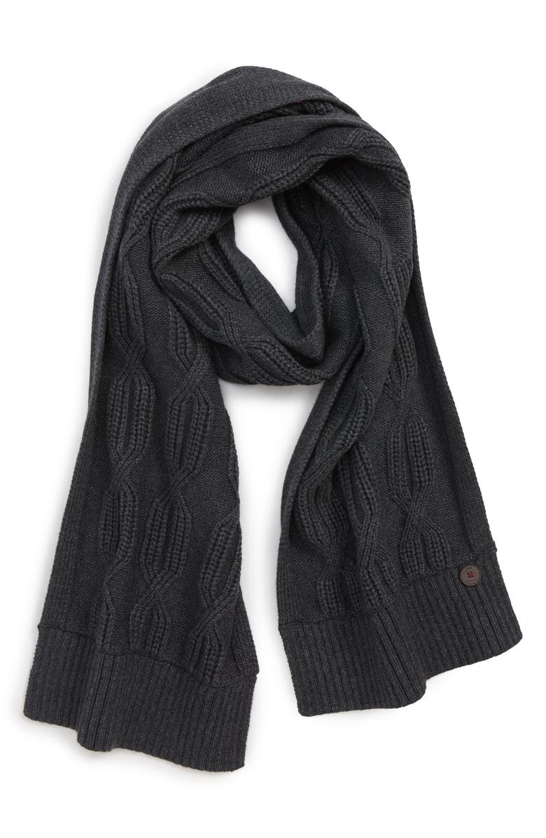 TED BAKER LONDON Cable Knit Scarf, Main, color, 020