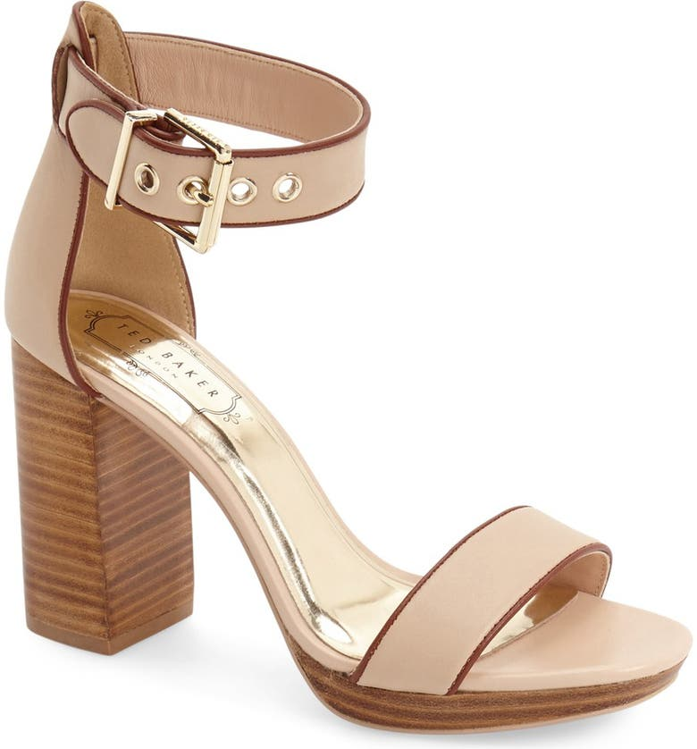 TED BAKER LONDON 'Lorno' Sandal, Main, color, TAUPE LEATHER
