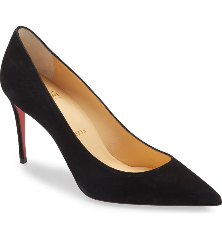 CHRISTIAN LOUBOUTIN Kate Pointed Toe Pump, Main, color, BLACK