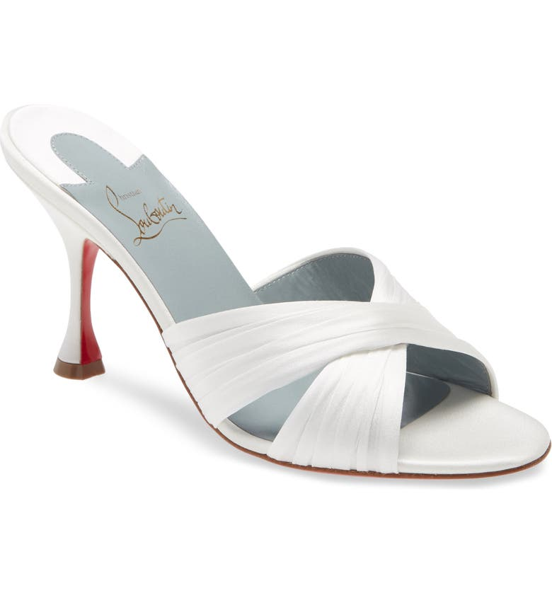 CHRISTIAN LOUBOUTIN Nicol Is Back Slide Sandal, Main, color, OFF WHITE/ LINING BLUE
