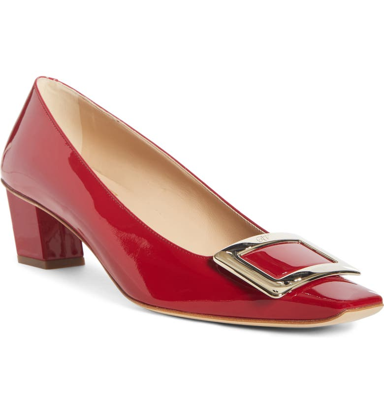 ROGER VIVIER Belle Vivier Buckle Pump, Main, color, RED