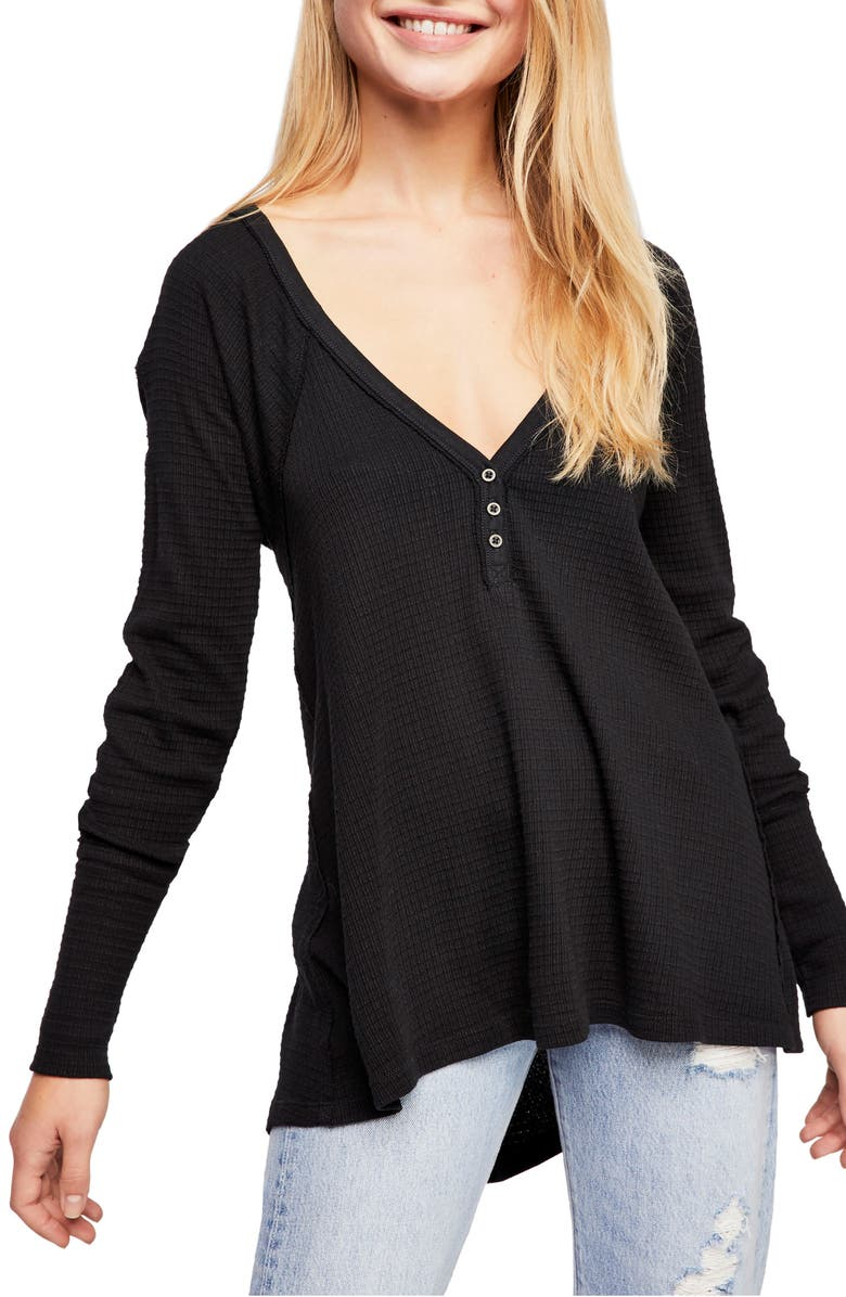 FREE PEOPLE Citrine Textured Cotton Blend Top, Main, color, 001