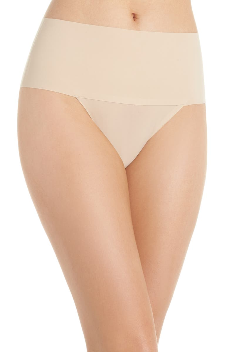 SPANX<SUP>®</SUP> Undie-tectable Thong, Main, color, SOFT NUDE