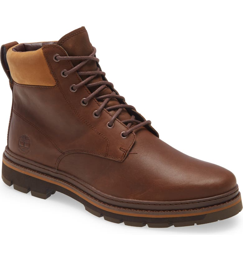 TIMBERLAND Port Union Waterproof Boot, Main, color, RUST LEATHER