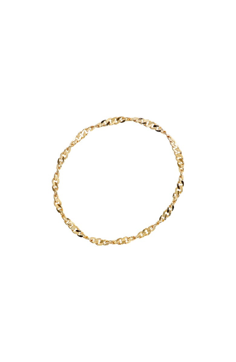MADEWELL Delicate Collection Demi-Fine Chain Ring, Main, color, VERMEIL