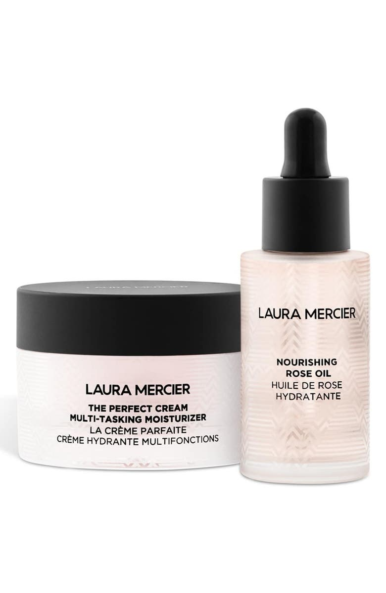 LAURA MERCIER Nourishing Rose Oil and Perfect Cream Hydrating Duo Set, Main, color, NO COLOR